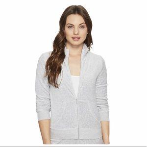 Juicy Couture Black Label Grey Velour Track Suit